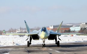 Russia, PAK FA, multi-purpose, On the ground, fighter, aviation, Dry, Air force, winter
