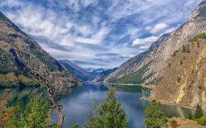 Британская Колумбия, Канада, озеро Сетон