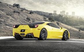Ferrari, Giallo, Ferrari, Vista laterale, Italia, stradale, auto