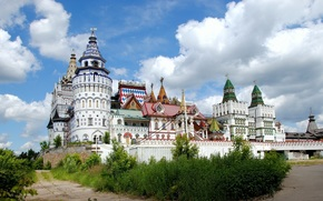 Kremlin, Dome, Widescreen, cultural and entertainment complex, Widescreen, castle, Izmailovo, background, wallpaper, wall, fullscreen, city