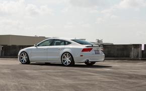 tuning, Audi, machine, White, Audi
