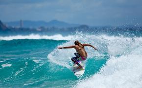 Sport, surfer, surfing, ocean