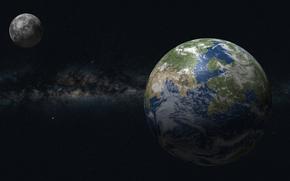 Луна, звезды, Земля, вселенная