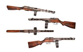 arma, pistola ametralladora, Soviético, Shpagin