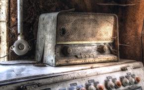 радиоприёмник, Hi-Tech, фон, паутина