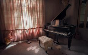 Music, room, piano