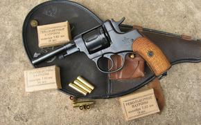 revolver, Boxes, ammunition