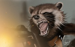 rocket, raccoon, Guardians of the Galaxy