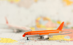 plane, model, map