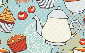 TEXTURE, cupcakes, kettle