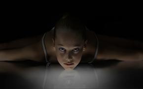 twine, reflection, GYMNASTICS, sportswoman, view