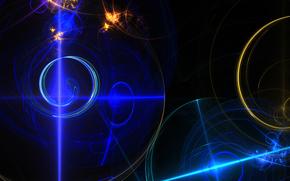 свет, фрактал, цвет, линии, лучи, узор