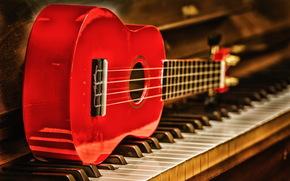 Music, guitar, piano