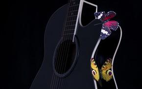Butterflies, guitar, Music