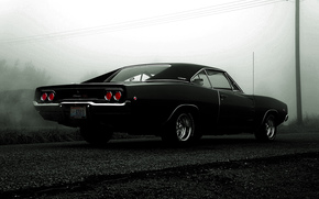 dodge, Dodge Charger, Mouskouri car, black