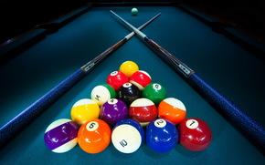 Sport, table, billiards, Balloons