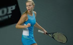 Lena Lyuttsayer, German tennis player, racket