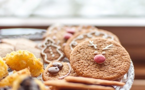sweet, background, cookies, Christmas cookies, wallpaper, fullscreen, Widescreen, food, Widescreen