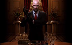 gloves, Blood Money, suit, gun, tie