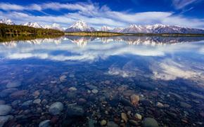 National Park Grand Teton, staff, Jackson, lake, USA, Wyoming