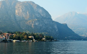 Rocks, Housing., Mountains, Italy, Lombardy