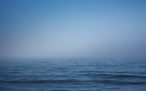 water, HORIZON, sea, wave, sky, fog