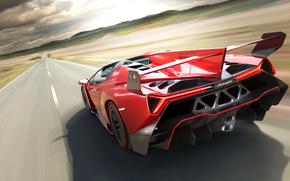 Зад, Суперкар, Lamborghini, Скорость
