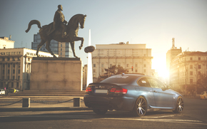 Rays, tuning, BMW, area, sun, BMW, Back, Drives, blue