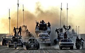 dizelpank, maszyny, pustynia, Mad Max, Road Rage, postapokaliptika, pył, Warriors