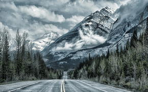 road, Mountains