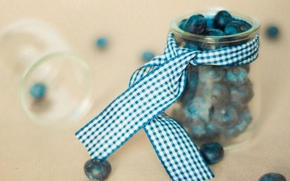 blueberries, jar, BANK, food, cell, tape, Widescreen, Widescreen, wallpaper, background, berry, ribbon, fullscreen