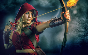 Red Riding Hood, freccia, fuoco, cipolle