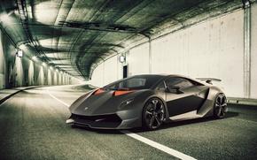 Туннель, Lamborghini, Суперкар, Ламборджини