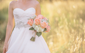 matrimonio, vestire, bouquet, sposa, matrimonio