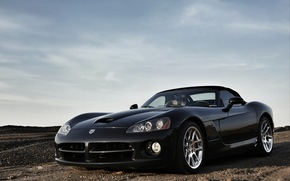 style, Dodge Viper, LIGHTS, black, tuning, sports car, Drives, American, dodge, Double