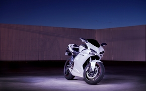 небо, суперспорт, белый, дукати, мотоцикл, Мотоциклы