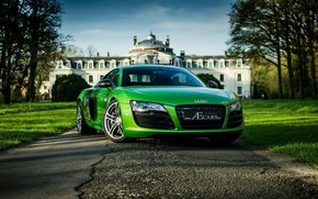 Audi, Verde, alberi, cielo, domestico, Audi