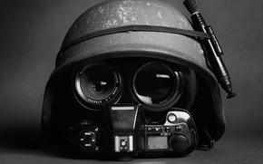 шлем, фотоаппарат, каска, Hi-Tech