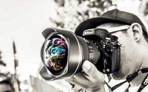объектив, фотограф