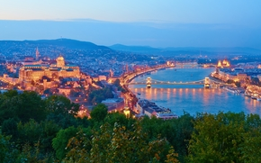 The Danube River, Budapest, sunset