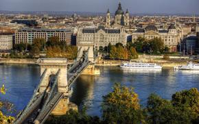 Chain Bridge, Budapeszt, miasto