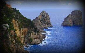 Isola di Capri, Italia, mare, Rocce, paesaggio