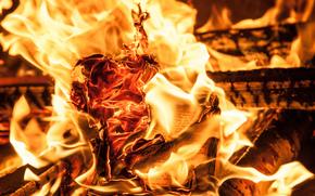 fuoco, carta, caldo