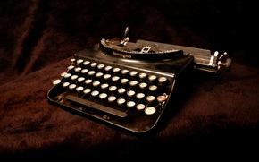 fondo, de alta tecnología, máquina de escribir