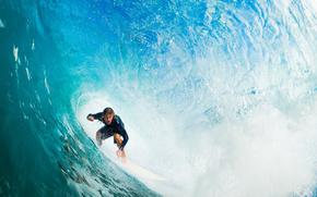 wave, spray, surfing, guy