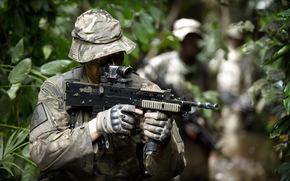 British commandos, weapon, soldier