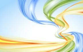 фон, радуга, пастель, абстракция