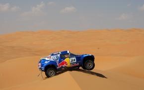 Sport, Volkswagen, duna, blu, deserto, sabbia