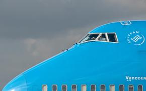 самолёт, пилот, кабина