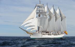 Other machinery and equipment, waves, brigantine, Training, ship, sea